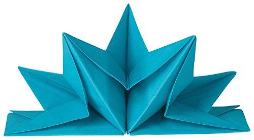 Now Designs Oragami Paper Napkins, Turquoise