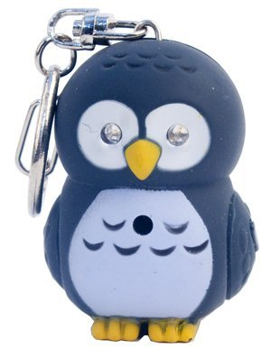 Kikkerland KRL26TC Owl LED Keychain with Sound