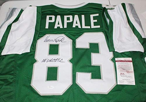 - Vince Papale Autographed Signed Philadelphia Eagles Green Throwback Jersey 3 - JSA Authentic Memorabilia