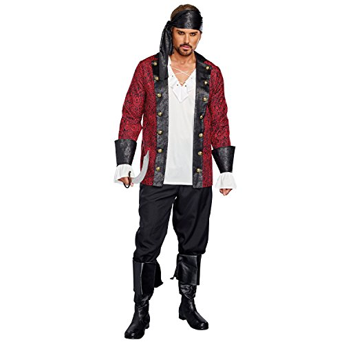 Pirates Of The Caribbean Costumes For Couples - Dreamgirl Holy Ship (Men's), Multi,