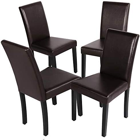 YAHEETECH Dining Chairs Dining Room Chairs Side Chairs Kitchen Chairs Parsons Chair
