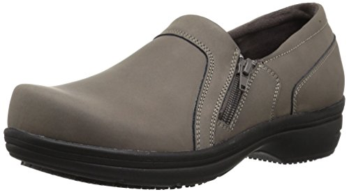Easy Works Women's Bentley Health Care Professional Shoe, Grey Nubuck, 7.5 W US by Easy Works