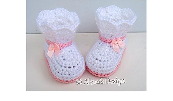 Pink Hand Knit Newborn Baby Shoes with Iridescent Skulls Pink Baby Shower Gift Skull Baby Girl Pima Cotton Halloween Baby Booties