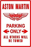 ASTON-MARTIN PARKING sign street classic