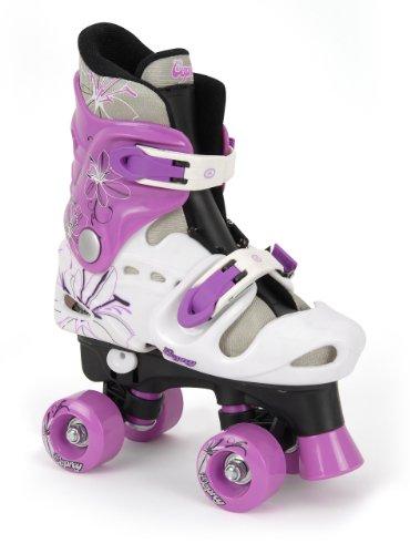 Osprey Quad Skate Rollschuhe Für Mädchen, schwarz/weiß/violett, 36 - 38, TY4805