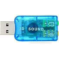 Placa de Som 3D Mini Adaptador USB 2.0 - Azul