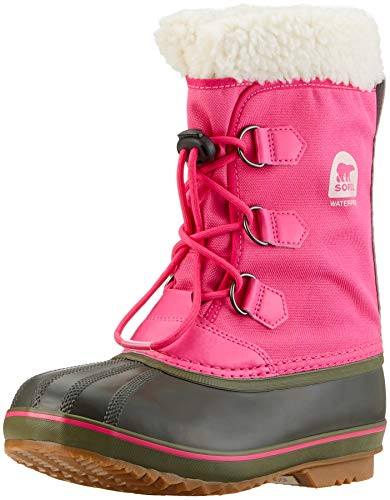 Sorel Girls' Yoot Pac Nylon Snow Boot, Ultra Pink, Alpine Tundra, 6 M US Big Kid ()
