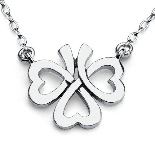 925-sterling-silver-irish-upside-down-shamrock-clover-charm-necklace-22-inches