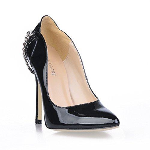 Banquet Des A Le Black Femmes Souligné La Code Pearl Chaîne Nouveau De Talon Sur chaussures Chaussures Cliquez Haute Everbright pqwCEE