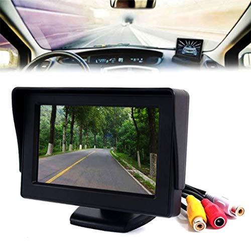 YUSHHO56T Car Monitor Car Video Players & Accessories Car Display 4.3inch TFT LCD Digital Display Auto Car Rear View Backup Reverse Camera Monitor - 4.3 inch
