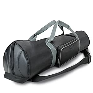 "Padded Tripod Case Bag with Expandable Compartment & Accessory Storage - by USA GEAR - works with Vista , Ravelli , Dolica , Manfrotto & More - Holds Tripods from 21"" to 35"" Folded"