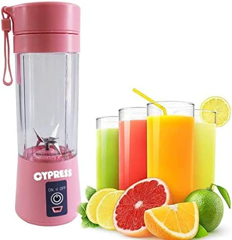 Portable Blender Single Serve BPA-Free Green Personal Size Blender USB Rechargeable Juicer Cup Fruit Mixing Machine Baby Travel 380ml FDA