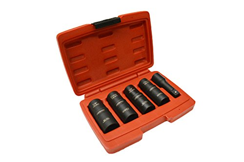 1/2'' Drive Thin Walled Flip Impact Socket Set SAE & MM by EZ Travel Distribution