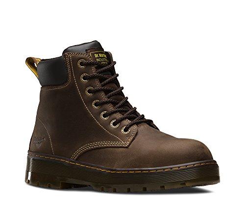 14 Eyelet Steel Toe Boot - Dr. Martens Men's Winch 7-eye Lace-up Steel-toe Dark Brown Boot, Medium / 14 F(M) UK / 15 D(M) US