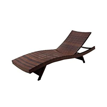 Amazoncom Best Selling Outdoor Adjustable Wicker Lounge Brown