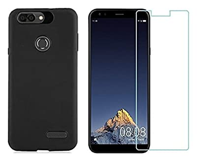finest selection b2230 639a0 Colorcase Back Cover Case for Infocus Vision 3 with Tempered Glass {Combo  Pack}