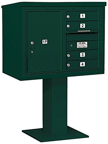 Salsbury Industries 3406d-04grn 4 C Pedestalメールボックス、グリーン   B00CLVFTMA