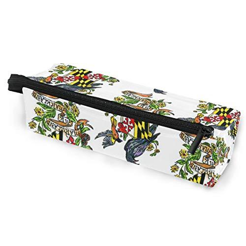 My Maryland Baltimore Oriole Sunglasses Soft Case Zipper Eyeglass Case Storage Stationery Box