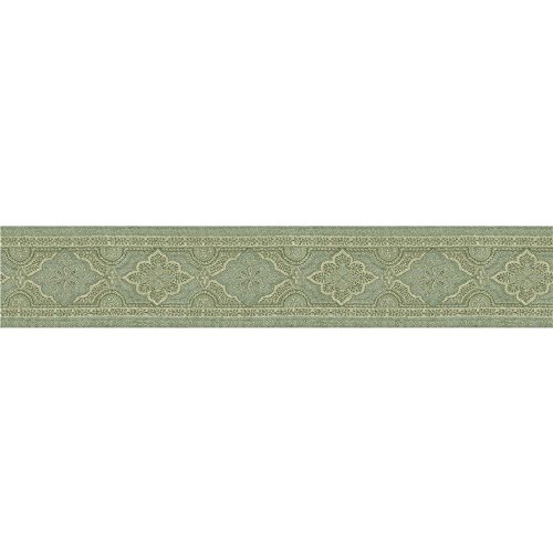 Chesapeake MAN01863B Alfred Paisley Wallpaper Border, Aqua