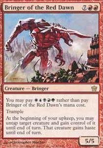 Fifth Dawn Game Card - Magic: the Gathering - Bringer of the Red Dawn - Fifth Dawn