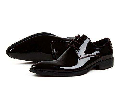 Herren Lederschuhe Herren Lederschuhe Business Hochzeit Schuhe formelle Kleidung wies helle Schuhe Bräutigam heiraten Herrenschuhe ( Farbe : Red-brown , größe : EU39/UK6 ) Red-brown