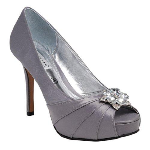 LEXUS Zapatos mujer gris Gris tacón con 88zdwr