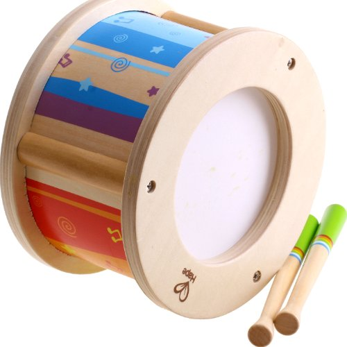 hape-early-melodies-little-drummer-wooden-music-set