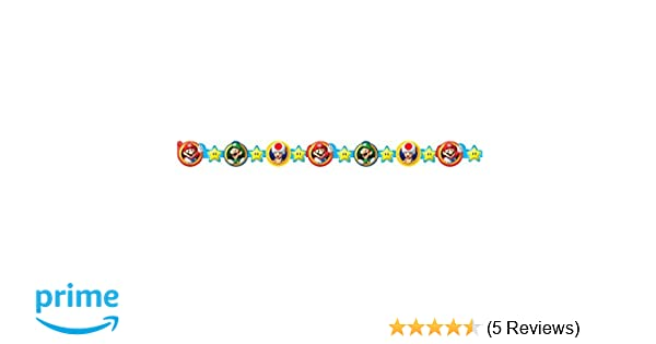 Super Mario Brothers Die-Cut Paper Garland, Party Favor
