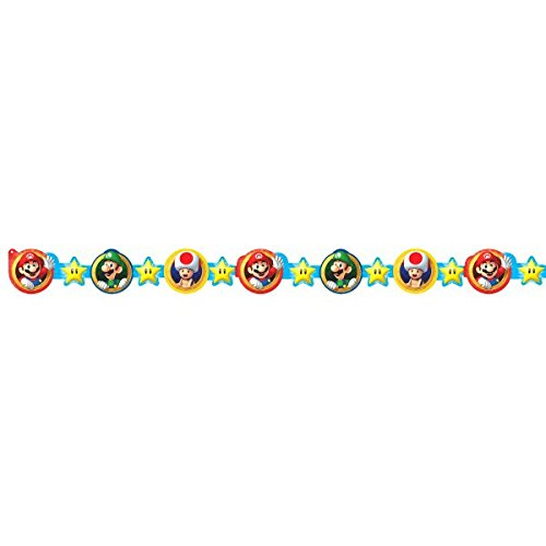 Super Mario Brothers Die-Cut Paper Garland, Party Favor ()