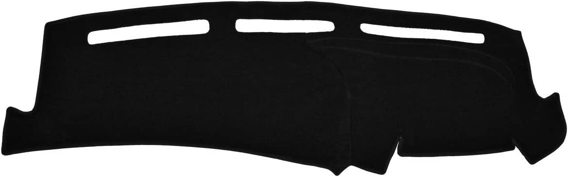 Custom Dash Cover Mat Compatible with 1997-2003 Ford Pick-up F-150 Velour, Red