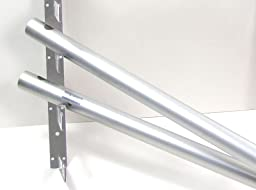 10 Ft Aluminum Horizontal Pole for Background Support System - 2 In Diameter- Single Support Tube for Photo Backgrounds