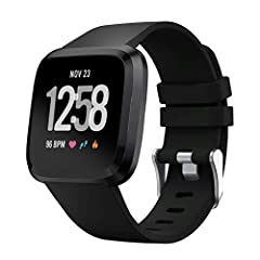 Soft Silicone Strap Replacement Band Wristband for Fitbit Versa LiteFeatures: Various colors for your choice, feel free to choose all the colors you like to dress up your watch. Just like a fashion show. Personalize your wristband to match yo...