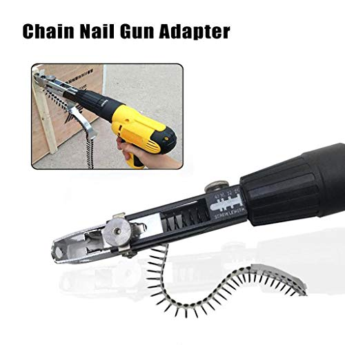 Tpingfe Electric Drill Chain Nail Adapter Automatic Screw Chain Nail Adapter Tool
