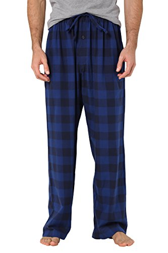 Flannel Loungewear (CYZ Men's 100% Cotton Super Soft Flannel Plaid Pajama Pants-F17005-L)