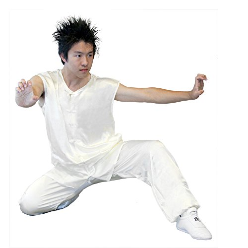 Tiger Claw Kung Fu (Kungfu) Uniform White Silk Southern Style - Large