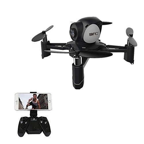 DraWaoy Mini RC Quadcopter Drone, DIY Four-Axis Gyro Aircraft with Altitude Hold, Headless Mode WiFi Real-Time Transmission Easy Fly for Beginners(Black)