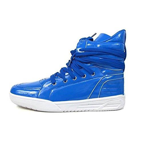 Moda Casuales Otoño los de con Color 2018 Cordones Deporte Zapato Verano talón de de Azul Puro de Zapatos Hombres Plano YqY4rZ8