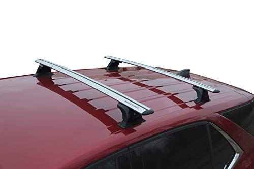 BRIGHTLINES Equinox Roof Rack Cross Bars Compatible with 2018-2019 Chevy Equinox Without Roof Rails - Nissan Quest Roof Rack