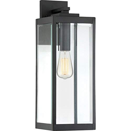 Quoizel WVR8407EK Westover Modern Industrial Outdoor Wall Sconce Lighting, 1-Light, 150 Watt, Earth Black (20