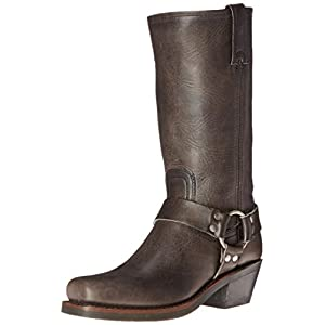 FRYE Women's 12R Harness Boot, Smoke Washed Oiled Vintage, 8.5 M US