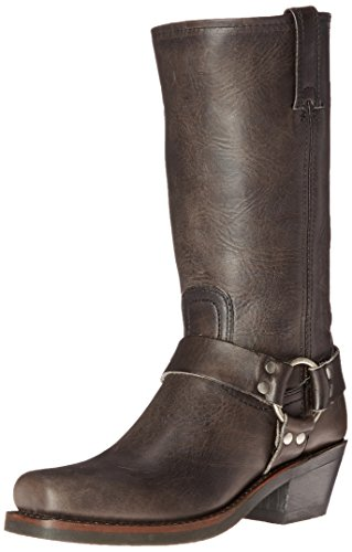 (FRYE Women's 12R Harness Boot, Smoke Washed Oiled Vintage, 7.5 M US)
