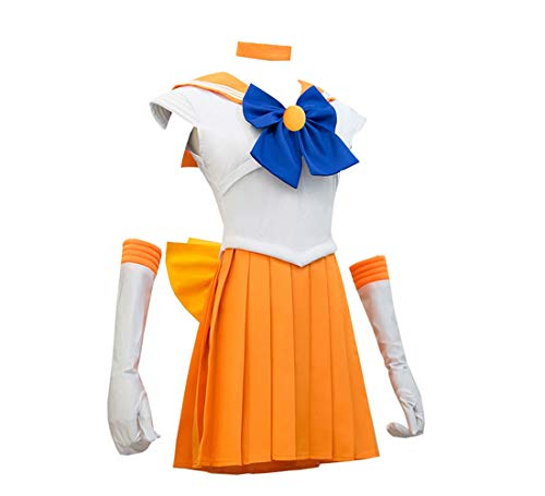 YuHi Women Sailor Venus Costume Dress Cosplay Suit M -