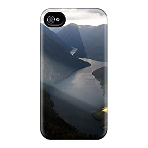 For Iphone Case, High Quality River Through The Mountains For Iphone 4/4s Cover Cases