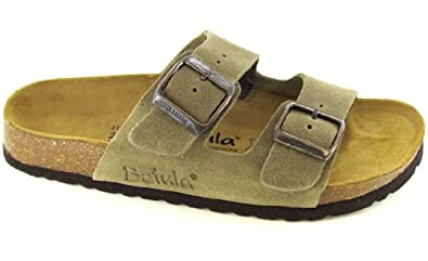 d33c485861c7 Image Unavailable. Image not available for. Color  New Betula Boogie Ladies Two  Strap Sandals Shoes Taupe ...