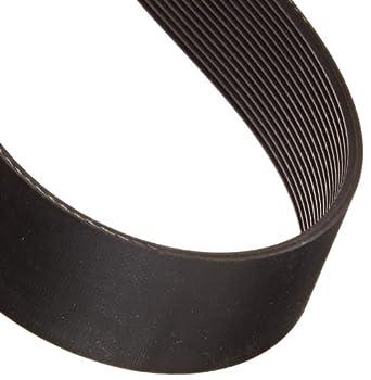 "Gates 480J16 Micro-V Belt, J Section, 480J Size, 48"" Length, 1-1/2"" Width, 16 Rib"