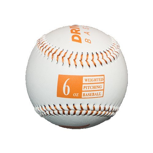 Driveline Leather Weighted Baseballs: Orange, 6oz