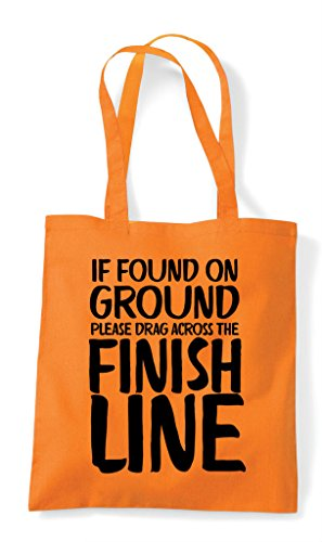 Tote Bag Please Drag Across On Ground Found The If Finish Shopper Line Orange BvwHnqzx
