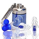 Zwolf Comfortable Ear plugs Reusable Noise Cancelling For Sleeping - High Fidelity Earplugs For Concerts Musicians Motorcycles and More -Hearing Protection set