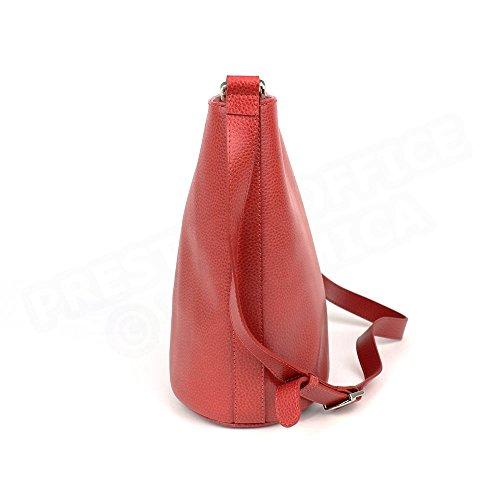 Sac épaule Biarritz cuir Rouge Beaubourg
