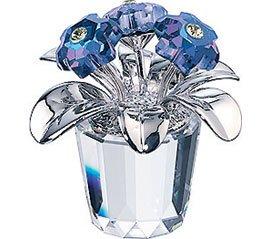 Swarovski Crystal Primula Blue Flowers